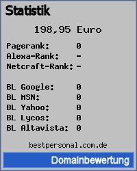 Domainbewertung - Domain bestpersonal.com.de bei 24service.biz