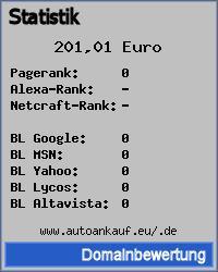 Domainbewertung - Domain www.autoankauf.eu/.de bei 24service.biz