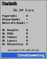Domainbewertung - Domain www.backlink-web.be.be bei 24service.biz