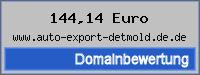 Domainbewertung - Domain www.auto-export-detmold.de.de bei 24service.biz