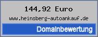 Domainbewertung - Domain www.heinsberg-autoankauf.de bei 24service.biz