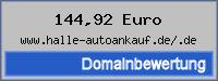 Domainbewertung - Domain www.halle-autoankauf.de/.de bei 24service.biz