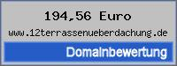 Domainbewertung - Domain www.12terrassenueberdachung.de bei 24service.biz