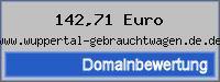 Domainbewertung - Domain www.wuppertal-gebrauchtwagen.de.de bei 24service.biz